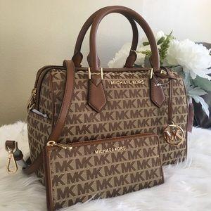 New Michael Kors Bedford duffle satchel & wallet